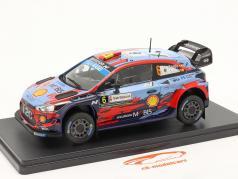 Hyundai i20 Coupe WRC #6 gagnant Rallye Italie Sardaigne 2019 1:24 Altaya