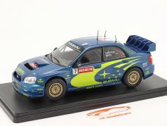 Subaru Impreza S9 WRC #7 gagnant Rallye GB Pays de Galles 2003 Solberg, Mills 1:24 Altaya