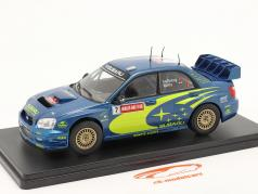 Subaru Impreza S9 WRC #7 ganador Rallye GB Gales 2003 Solberg, Mills 1:24 Altaya