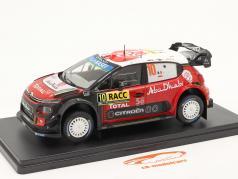 Citroen C3 WRC #10 gagnant Rallye Catalogne 2018 Loeb, Elena 1:24 Altaya