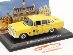Mercedes-Benz 200 D Taxi Bruxelas 1966 amarelo 1:43 Altaya