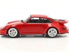 Porsche 911 (964) Turbo S Flachbau Byggeår 1994 vagter rød 1:18 GT-Spirit