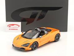 McLaren 720S Spider 建设年份 2018 橘子 金属的 1:18 GT-Spirit