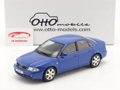 Audi S4 (B5) 2.7L Biturbo Ano de construção 1998 nogaro azul 1:18 OttOmobile