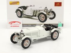 Mercedes-Benz SSK bouwjaar 1930 wit 1:18 CMC