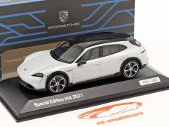 Porsche Taycan Cross Turismo Turbo S IAA München 2021 ijsgrijs 1:43 Minichamps
