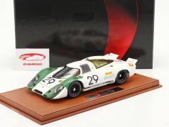 Porsche 917/69 #29 Vincitore 1000km Zeltweg 1969 Siffert, Ahrens insieme a vetrina 1:18 BBR