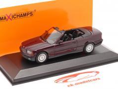 BMW 3 Serie (E36) Cabrio bouwjaar 1993 paars metalen 1:43 Minichamps