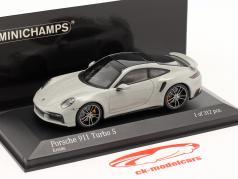 Porsche 911 (992) Turbo S year 2020 chalk grey 1:43 Minichamps
