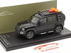 Land Rover Defender 110 建設年 2020 santorini 黒 1:43 Almost Real