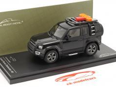 Land Rover Defender 90 Ano de construção 2020 santorini Preto 1:43 Almost Real