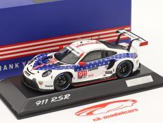 Porsche 911 RSR #911 vencedora Classe GTLM 12h Sebring IMSA 2020 1:43 Spark