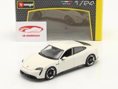 Porsche Taycan Turbo S 白い 1:24 Burago