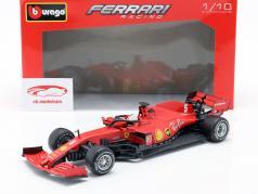 Sebastian Vettel Ferrari SF1000 #5 Áustria GP Fórmula 1 2020 1:18 Bburago / 2 escolha