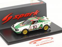 Lancia Stratos HF #10 勝者 Rallye Monte Carlo 1976 Munari, Maiga 1:43 Spark
