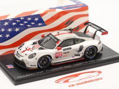 Porsche 911 RSR #912 2ª Classe GTLM 24h Daytona 2020 Porsche GT Team 1:43 Spark