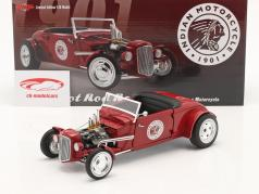 Hot Rod Roadster Indian Motorcycle 1934 rojo 1:18 GMP