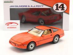 Chevrolet Corvette C4 Ano de construção 1984 hugger laranja 1:18 Greenlight
