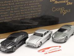 3-Car Set Aston Martin Collection James Bond 银 1:43 Corgi