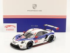 Porsche 911 RSR #911 vencedora Classe GTLM 12h Sebring IMSA 2020 1:18 Spark