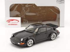 Porsche 911 (964) Turbo Byggeår 1990 sort 1:18 Solido