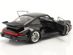 Porsche 911 (964) Turbo 建设年份 1990 黑色的 1:18 Solido
