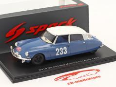 Citroen DS19 #233 第二 Rallye Monte Carlo 1963 Toivonen, Järvi 1:43 Spark
