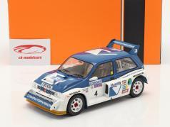 MG Metro 6R4 #4 第六名 Lombard RAC Rallye 1986 Pond, Arthur 1:18 Ixo