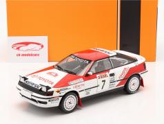 Toyota Celica GT-4 #7 第六名 Rallye San Remo 1990 Ericsson, Billstam 1:18 Ixo