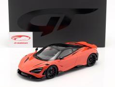 McLaren 765LT 建设年份 2020 橘子 金属的 1:18 GT-SPIRIT