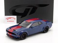 Dodge Challenger SRT Coupe Super Stock 2021 靛青 蓝色 / 红色的 1:18 GT-SPIRIT