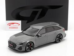 Audi RS6 Avant C8 建设年份 2020 纳尔多 灰色的 1:18 GT-SPIRIT