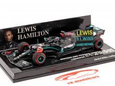 Hamilton Mercedes-AMG F1 W11 #44 91. Vinde Eifel GP formel 1 2020 1:43 Minichamps