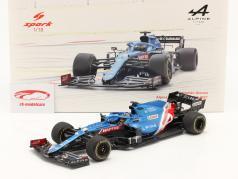 Fernando Alonso Alpine A521 #14 巴林 GP 公式 1 2021 1:18 Spark