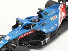 Fernando Alonso Alpine A521 #14 Bahrein GP formula 1 2021 1:18 Spark