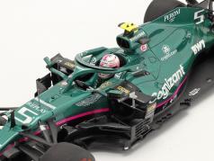 Sebastian Vettel Aston Martin AMR21 #5 Bahrain GP formel 1 2021 1:18 Spark