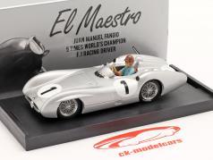 J. M. Fangio Mercedes-Benz W196 #1 第四名 英国 GP F1 世界冠军 1954 1:43 Brumm