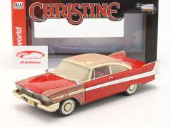 Plymouth Fury 建设年份 1958 电影 Christine (1983) 红色的 / 白色的 1:18 AutoWorld