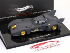 Filmauto Batman Batmobile 1989 1:43 HotWheels mat zwart