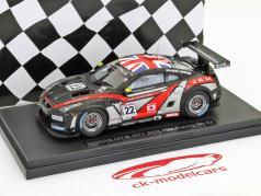Nissan GT-R GT1 FIA GT 2011 N° 22 JRM Racing Dumbreck, Westbrook Ebbro 1:43