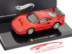 Ferrari F40 Competizione test di auto 24h LeMans 1995 rosso 1:43 HotWheels Elite