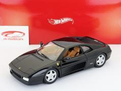 Ferrari 348 TB year 1989 black 1:18 HotWheels Foundation