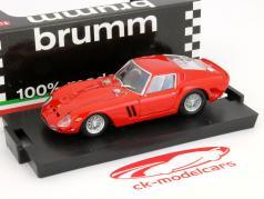 Ferrari 250 GTO Ano 1962 vermelho 1:43 Brumm