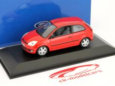 Ford Fiesta 3 portas Ano 2001 vermelho 1:43 Minichamps