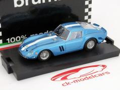 Ferrari 250 GTO 1962 azul metálico com listra branca 1:43 Brumm