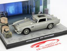 Aston Martin DB5 de James Bond filme Goldfinger carro cinza 1:43 Ixo