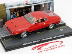 Ford Mustang Mach 1 James Vínculo Filme Carro Os diamantes são para sempre vermelho 1:43 Ixo