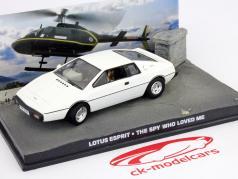 Lotus Esprit James Bond Car Film The Spy Who Loved Me 1:43 Ixo blanc