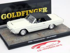 Ford Thunderbird Car James Bond filme Goldfinger branco 1:43 Ixo