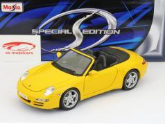 Porsche 911 (997) Carrera S Cabriolet yellow 1:18 Maisto